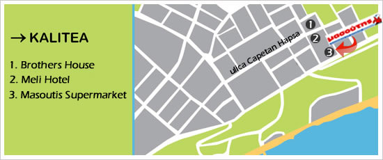 kalitea mapa Kalitea apartmani   Leto Grčka 2018, letovanje 2018, Leto 2018  kalitea mapa